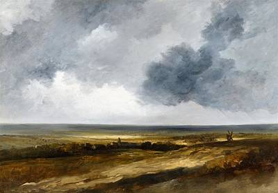 Cloud Painting - Landscape With A Village And Windmill by Georges Michel