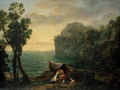 Cloudy Painting - Landscape With Acis And Galatea by Claude Lorrain