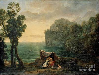 Landscape With Acis And Galatea Art Print
