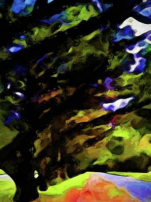 Digital Art - Landscape With An Avenue Of Trees by Jackie VanO