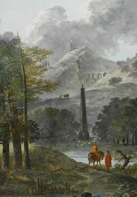Obelisk Painting - Landscape With An Obelisk by MotionAge Designs