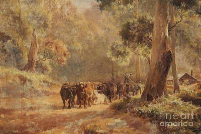 Antlers - Landscape with an Ox Cart and Farmhands by Celestial Images