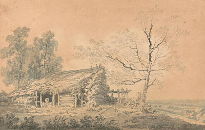 Landscape Drawing - Landscape With Barn by Joseph Mallord William Turner