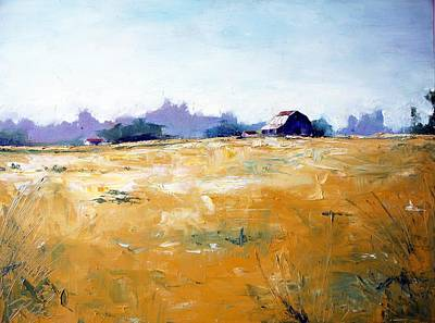 Painting - Landscape With Barn by RB McGrath