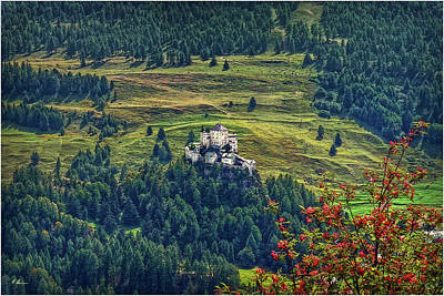 Photograph - Landscape With Castle by Hanny Heim