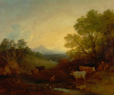 Painting - Landscape With Cattle by Thomas Gainsborough
