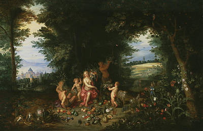 Painting - Landscape With Ceres  by Hendrick van Balen