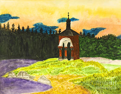 Valaam Painting - Landscape With Chapel by Irina Afonskaya