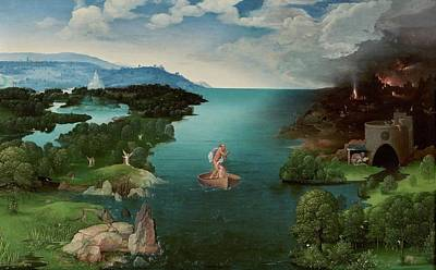 Charon Painting - Landscape With Charon Crossing The Styx by Joachim Patinir