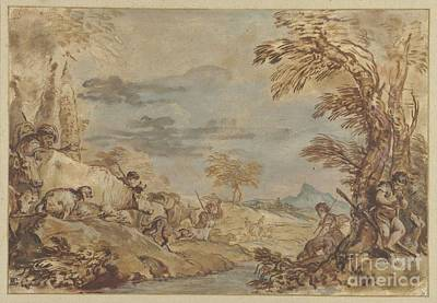 1620 Painting - Landscape With Continuing Migration by Celestial Images