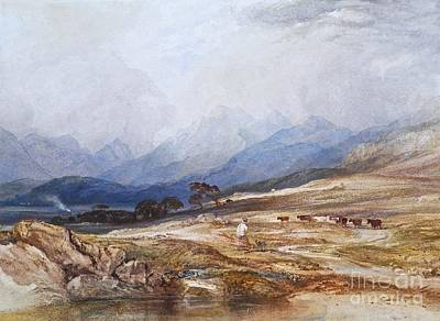 Heightened Painting - Landscape With Drover And Cattle by Celestial Images