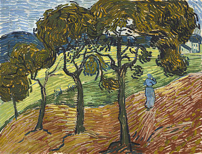 Tuscan Sunset Painting - Landscape With Figures by Vincent Van Gogh