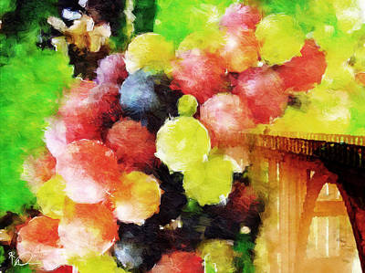 Landscape Digital Art - Landscape With Giant Grapes by David Derr