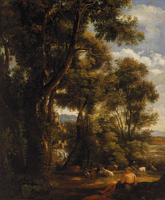 Painting - Landscape With Goatherd And Goats by John Constable