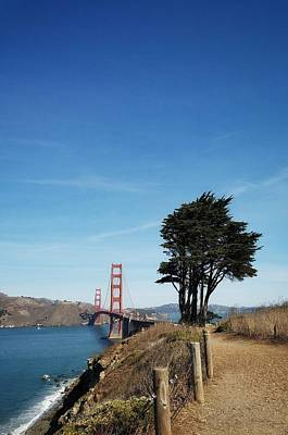 Photograph - Landscape With Golden Gate Bridge by Mary Capriole