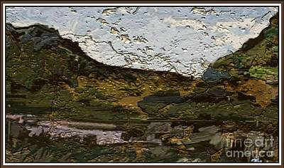 Landscape With Hills 2 Art Print by Pemaro