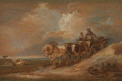 Painting - Landscape With Horse And Oxen Cart by Philip James de Loutherbourg