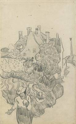 1890 Houses Painting - Landscape With Houses And Woman by Vincent van Gogh
