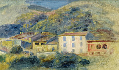 Painting - Landscape With Houses. Cagnes by Pierre-Auguste Renoir
