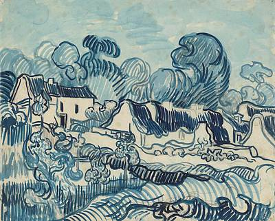 1890 Houses Painting - Landscape With Houses by Vincent van Gogh