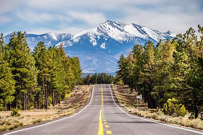 Photograph - landscape with Humphreys Peak Tallest in Arizona by Alex Grichenko