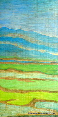 Folkartanna Painting - Landscape With Mountains by Anna Folkartanna Maciejewska-Dyba