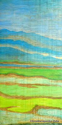 Painting - Landscape With Mountains by Anna Folkartanna Maciejewska-Dyba