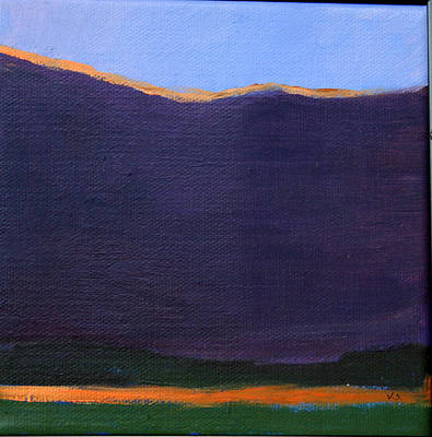 Painting - Landscape With Orange Stripe by Victoria Sheridan