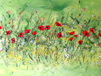 Painting - Landscape With Poppies by Dorothy Maier