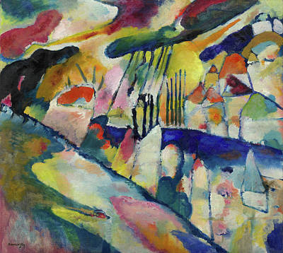 Spots Painting - Landscape With Rain by Wassily Kandinsky