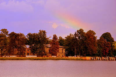 Photograph - Landscape With Rainbow by Henryk Gorecki