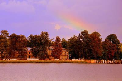 Photograph - Landscape With Rainbow by Henryk Gorecki