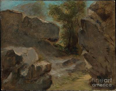 Painting - Landscape With Rocks by Celestial Images