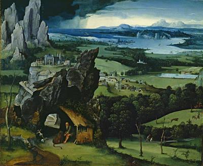 Painting - Landscape With Saint Jerome by Joachim Patinir