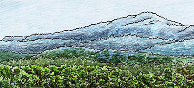 Painting - Landscape With Shenandoah Mountains by Irina Sztukowski