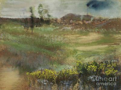 Chimney Pastel - Landscape With Smokestacks by Edgar Degas