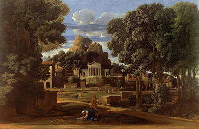 Outlook Painting - Landscape With The Ashes Of Phocion by Nicolas Poussin