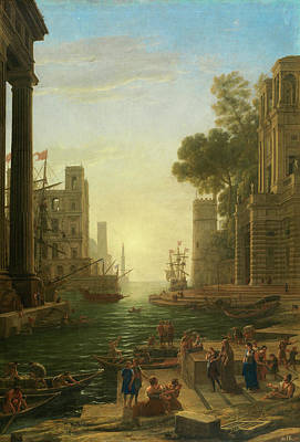 Saint Painting - Landscape With The Embarkation Of Saint Paula Romana At Ostia by Claude Lorrain