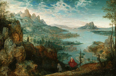Painting - Landscape With The Flight Into Egypt by Pieter Bruegel the Elder