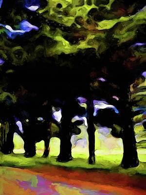 Digital Art - Landscape With Trees And Branches by Jackie VanO