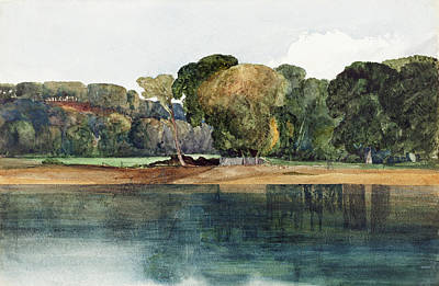 Painting -  Landscape With Trees And Water by James Bulwer