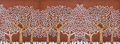 Photograph - Landscape With Trees Of White Leaf by Sumit Mehndiratta