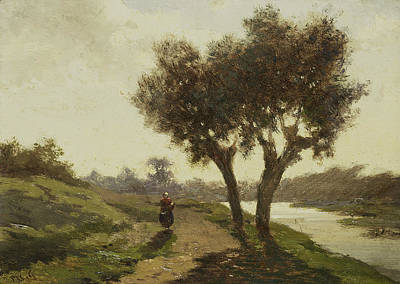 Landscape With Two Trees Print by Paul Gabriel