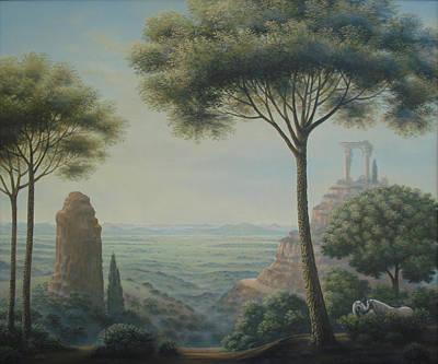 Painting - Landscape With Unicorns by Tuco Amalfi