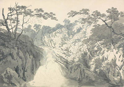 Photograph - Landscape With Waterfall by Joseph Mallord William Turner