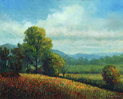 Painting - Landscape With Wildflowers by Douglas Castleman