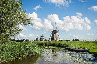 Photograph - Landscape With Windmills In Holland by IPics Photography