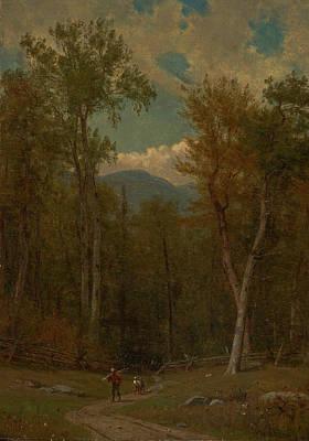Worthington Painting - Landscape  by Worthington Whittredge