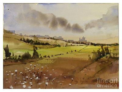 Painting - landscape Zebbug Gozo Malta by Godwin Cassar
