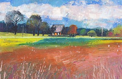 Painting - Landschaft Bei Hamminkeln by Martin Stankewitz